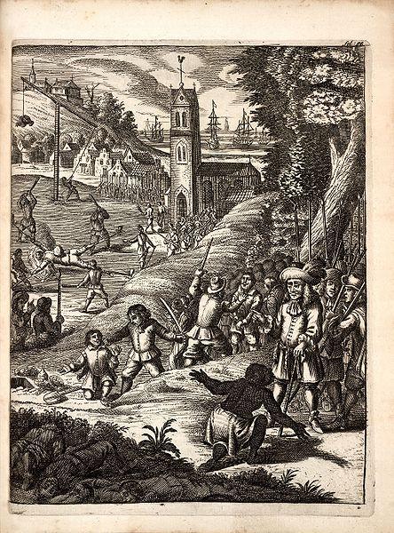 Stampa da The Buccaneers of America di Alexander Exquemelin, 1678