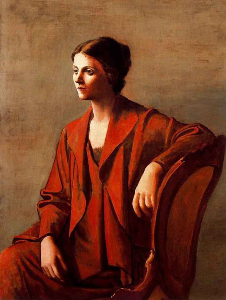 Picasso ol ga chochlova 1923 collasgarba for Quadri belli